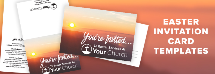 Invite Friends Free Easter Template
